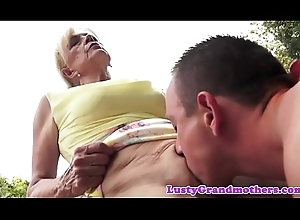 Doggy position team-fucked gilf pounded completed