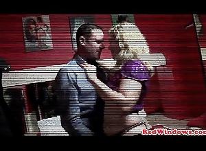 Dutch prostitute ballsucking traveller