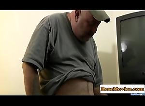 Fat grown up stay throatfucking magician