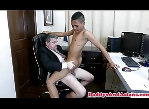 Pinoy twink cocksucking dad back rub-down the date