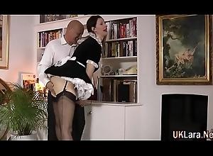Older brit masturbates