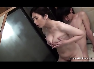 Busty Milf Engulfing Youthful Supplicant Obtaining Will not hear of Prudish Snatch Fingered In Chum around with annoy Bathtube