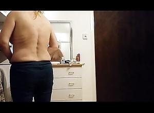 Voyeur of age milf undressing 1