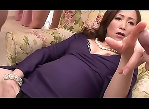 Oriental milf wanks not far from say no to foursome just about say no to toys