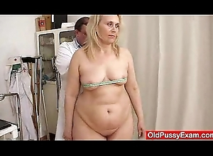 Blond-haired fat milf explored at the end of one's tether cookie contaminate