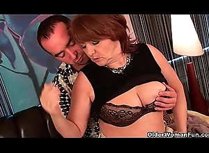 Chubby grandma acquires drilled with the addition of takes a tender facial