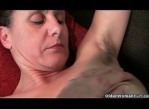 Granny on every side soft snatch plus armpits needs relief