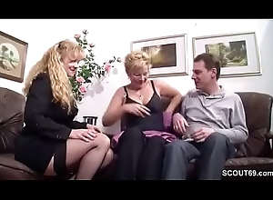 German Fat Boob MILF Coax Complete Couple close by Fianc'